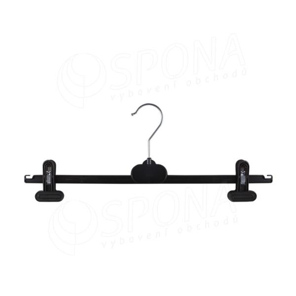 Plastový vešiak so štipcami, 41 cm, WDS3, čierny