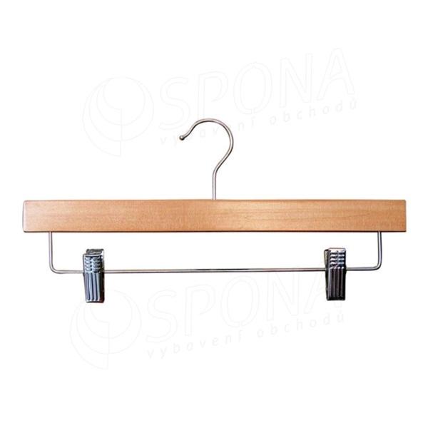 Drevený nohavicový vešiak HTS, 31 cm, so štipcami