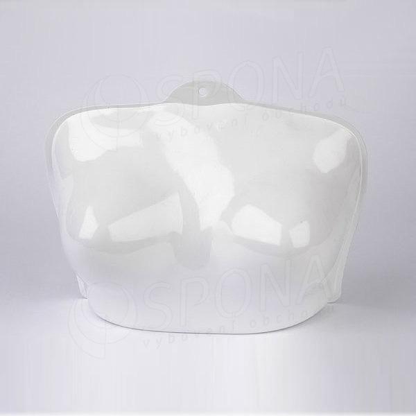 Torzo prsia plastové, biele