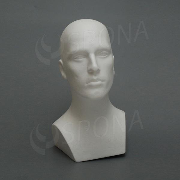 Hlava pánska MARC polystyrén, biela