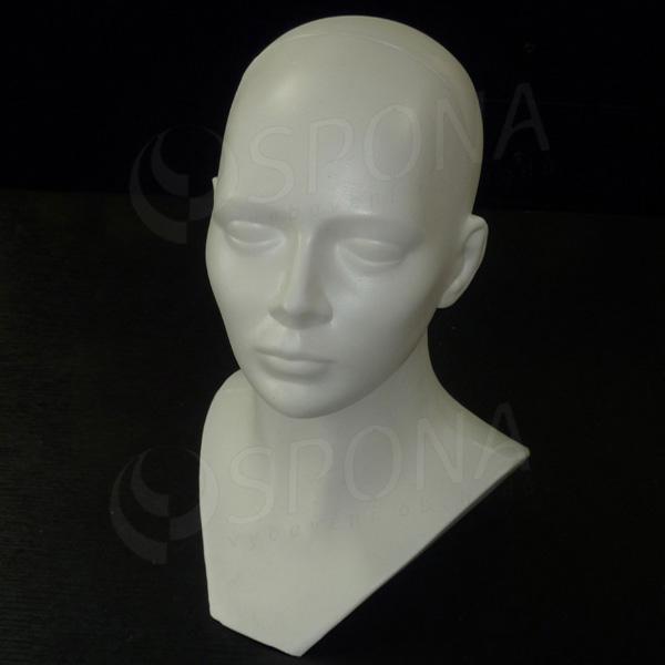 Hlava DITA plastová, biela