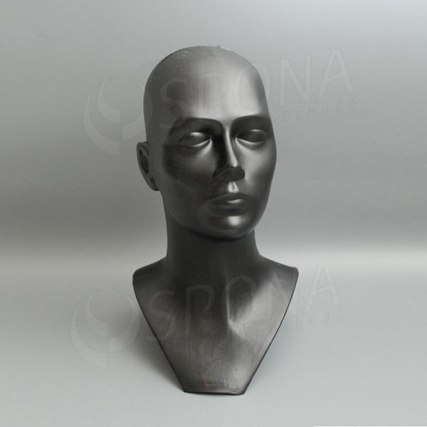 Hlava DITA plastová, čierna