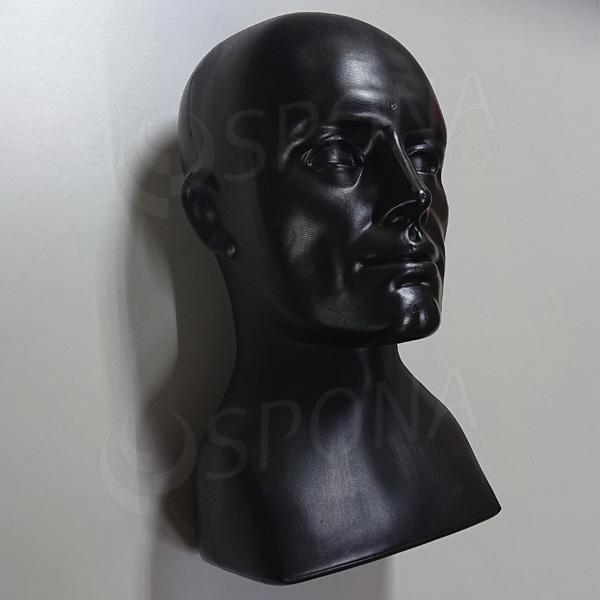 Hlava pánska ALEX, čierny plast