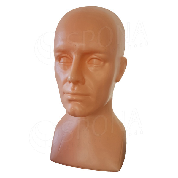 Hlava Alex plastová, farba telová