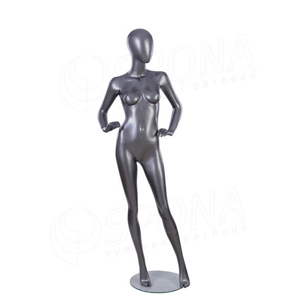 Figurína dámska Portobelle 294, matná strieborná