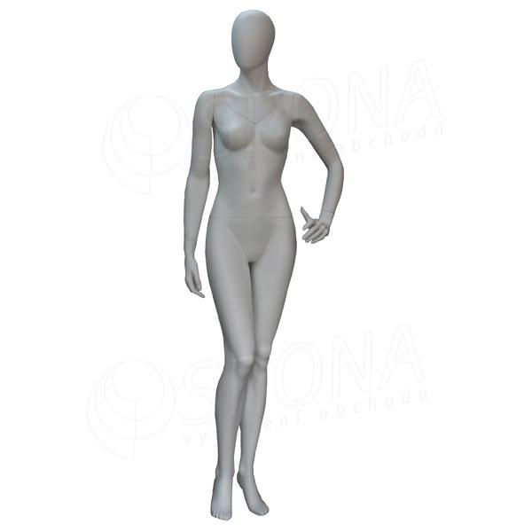 Figurína dámska FLASH na fotenie, matná biela