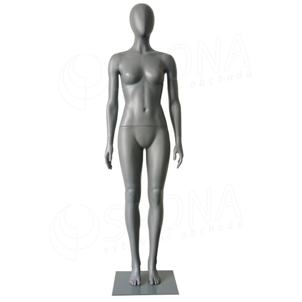 Figurína dámska ABSTRAKT GREY 01, šedý plast