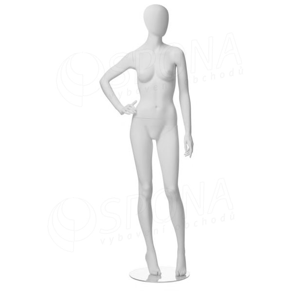 Figurína dámska CITY 03, matná biela