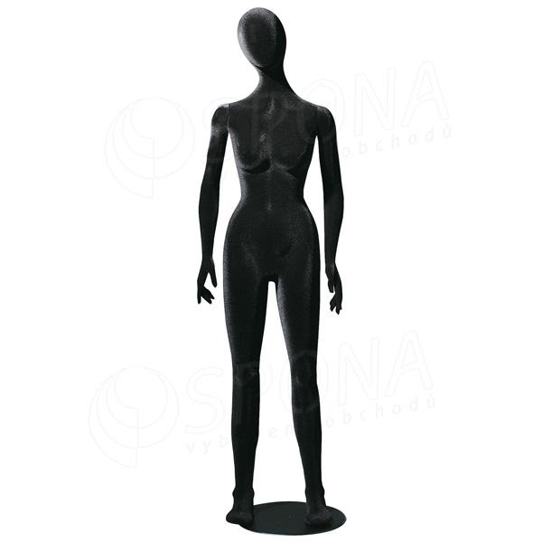 Figurína dámska FLEXIBLE, abstrakt, čierna, flok