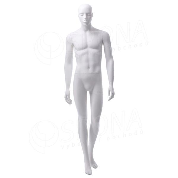 Figurína pánska JAY 303, matná biela