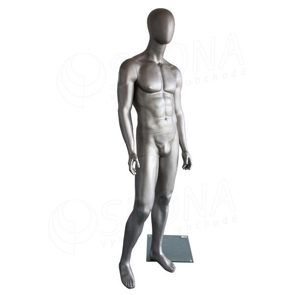 Figurína pánska Portobelle 308, matná strieborná