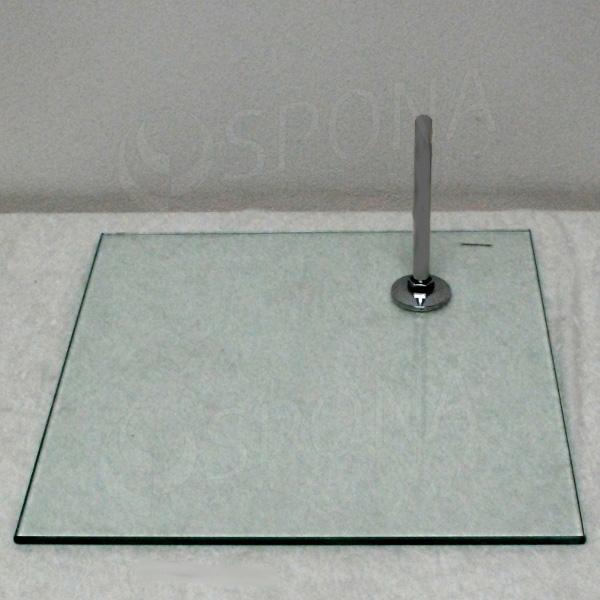 Podstavec sklenený k figuríne, štvorec, 380 x 380 x 8 mm