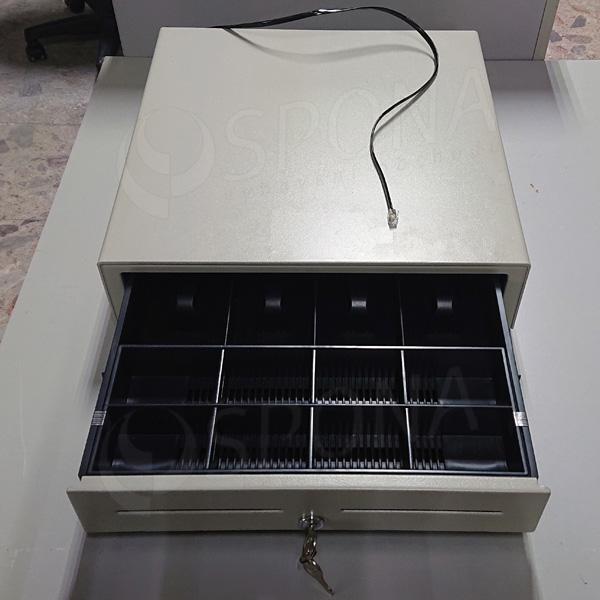 Pokladničná zásuvka EC 410, 4B/8M, béžová, kov