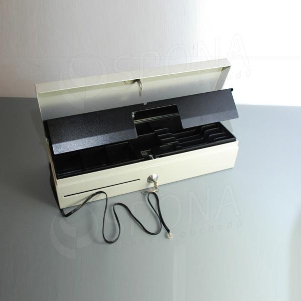 Pokladničná zásuvka FLIP TOP, 6B/8M, béžová, kov