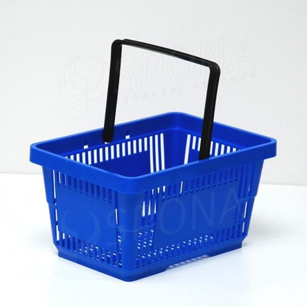 Košík nákupný, s jednou rúčkou modrý plast