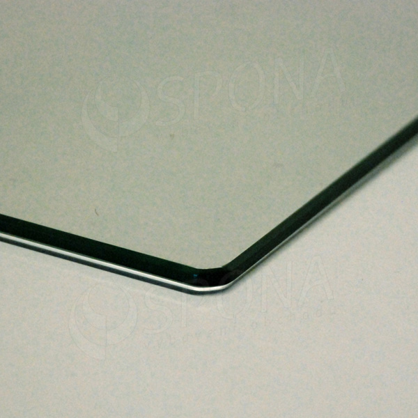 Polica sklenená TEMPER 760x387x4 mm, číra