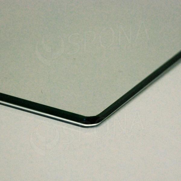 Polica sklenená TEMPER 1600x370x4 mm, číra