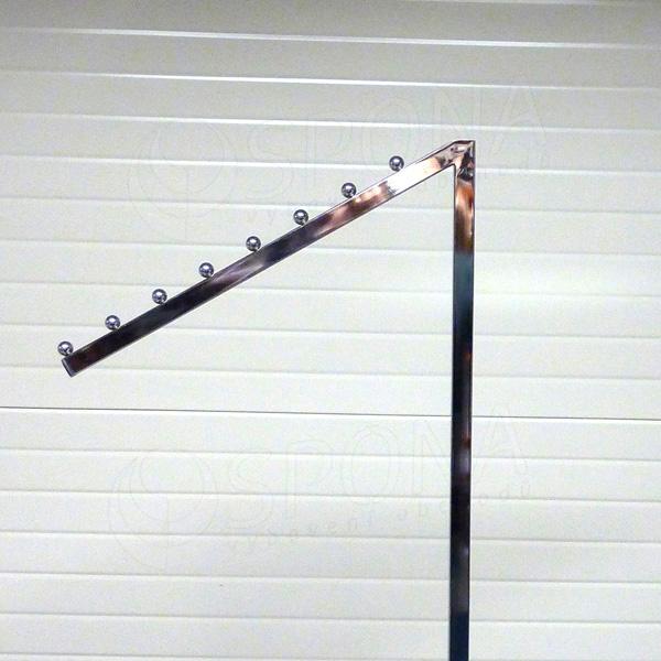 Štender PROFILINE rameno šikmé 8 guľôčok, 45 cm, chróm