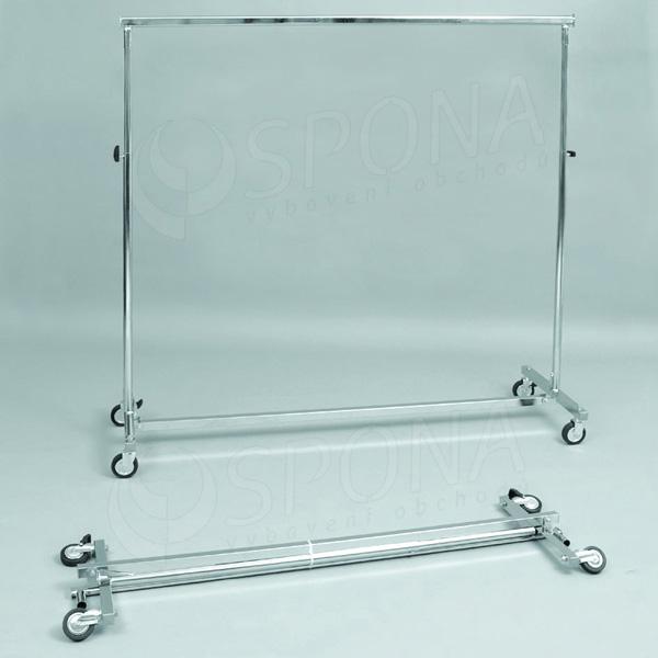 Štender 1000C, skladací staviteľný, výška 150 - 220 cm, šírka 150 - 220 cm, kovové kolieska