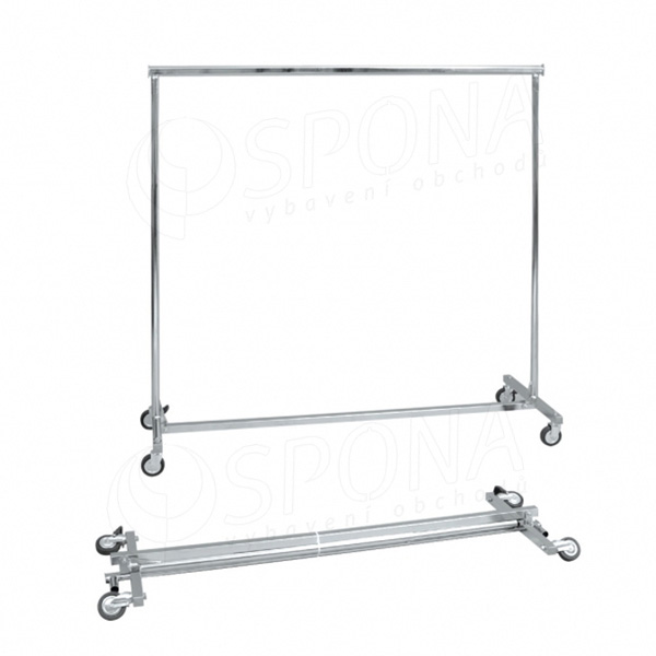 Štender 1000E, skladací staviteľný, výška 150 - 220 cm, šírka 150 - 220 cm, kovové kolieska