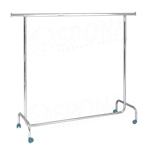 Štender 1001, výška 150 cm, šírka 150 - 220 cm, plastové kolieska