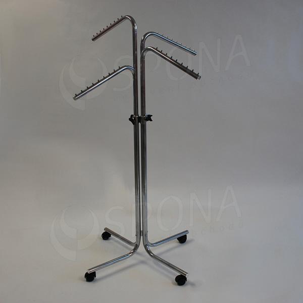 Štender 1012/3003 štvorramenný šikmý, výška 116 - 190 cm