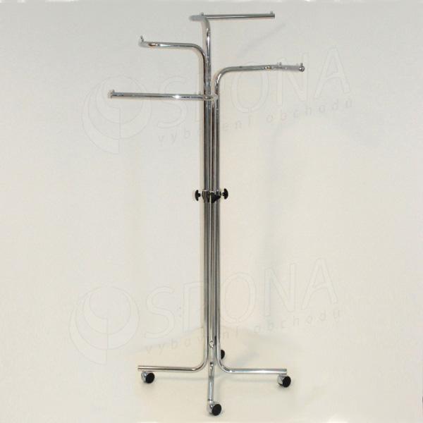 Štender 1013/3002 štvorramenný rovný s ohybom, výška 115 - 180 cm