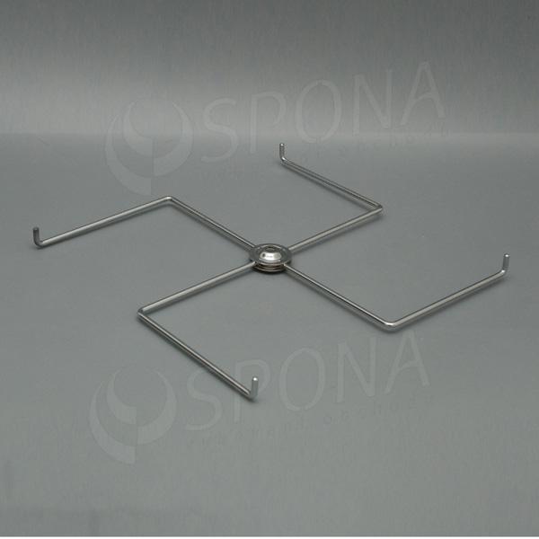 Stojanček na stôl - kríž 300 mm, 4 ramena, chróm