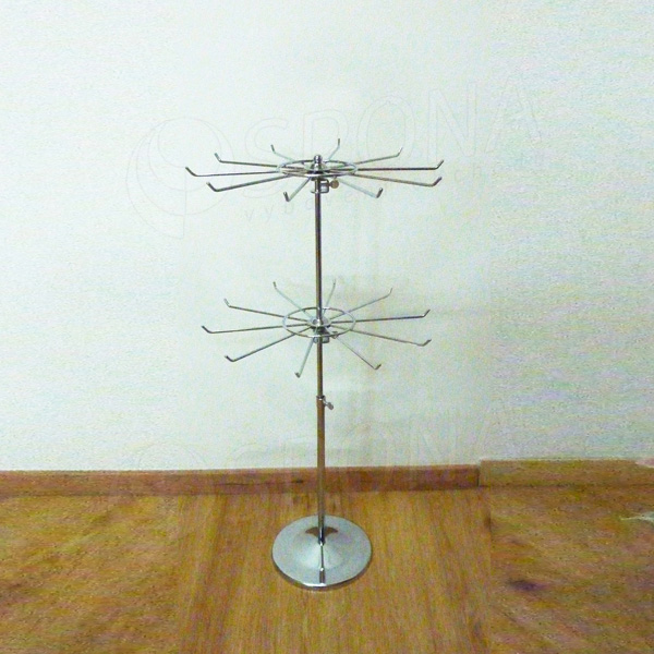 Stojanček na stôl sada, podstavec + 2x kolotoč 330 mm, chróm