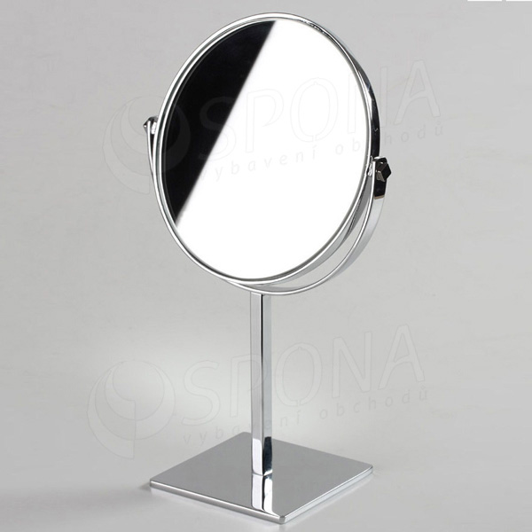 Stojanček BANKO 13, zrkadlo priem. 200 mm, výška 350 mm, chróm