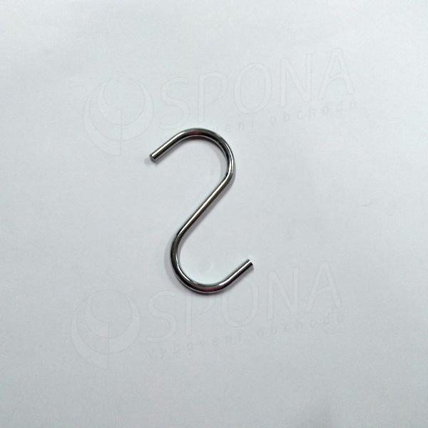 """Háčik """"S"""" veľkosť 25, chróm"""
