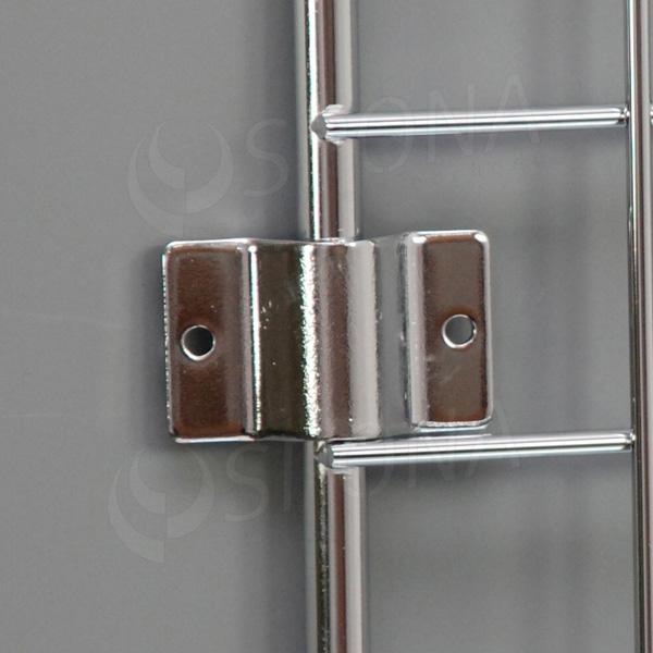 Sieť 5 úchyt na bočnú stenu hrúbka 3 mm, chróm