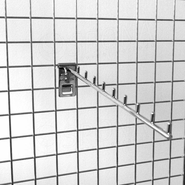 Sieť 5 vodopád úzky 9 kolíčkov, 400 mm, sklon 05°, chróm