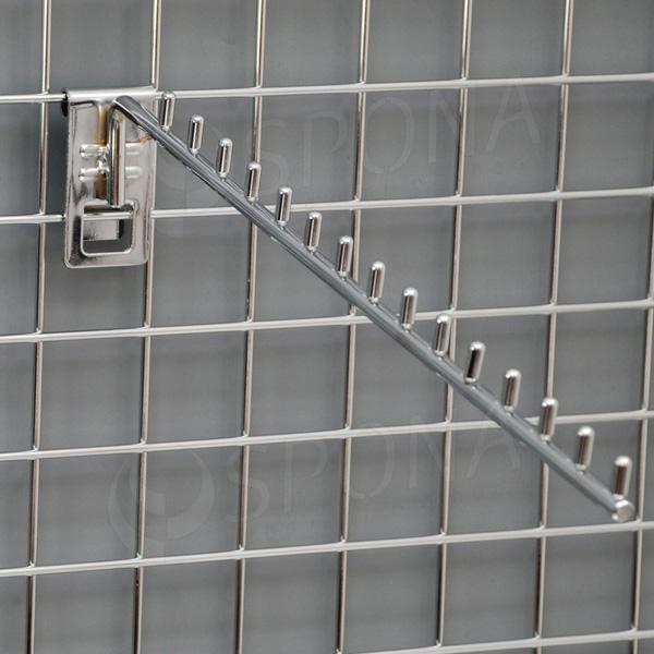 SIEŤ 5 vodopád úzky 15 kolíčkov, 420 mm, chróm
