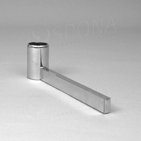 ROTO podstavec stojiny 420 mm, jednostranný, chróm