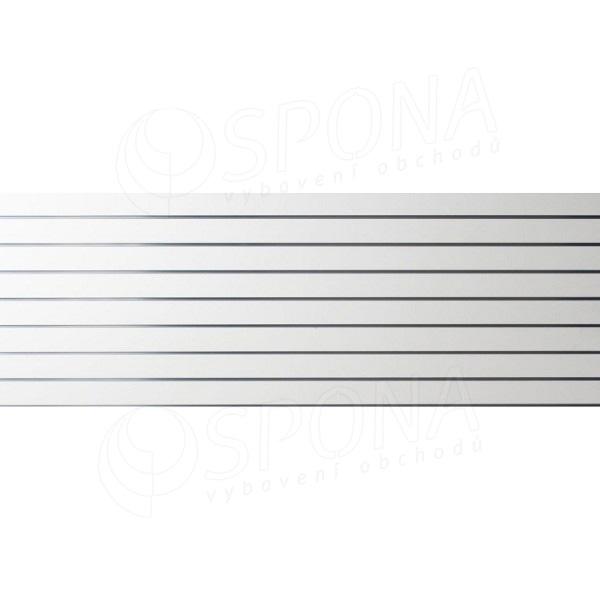 SLAT panel 240 x 90 cm, 8 drážok v rozostupe 10 cm, bez insertov, biely