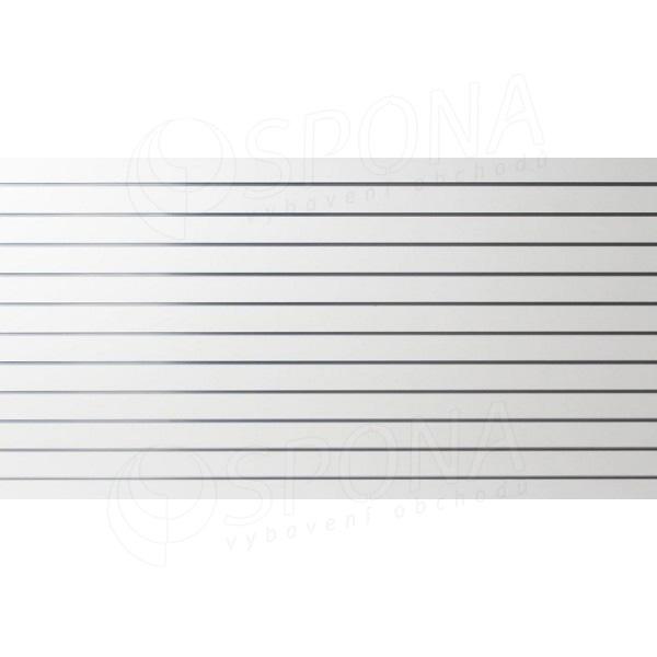 SLAT panel 240 x 120 cm, 11 drážok v rozostupe 10 cm, bez insertov, biely