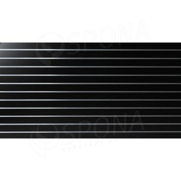 SLAT panel 240 x 120 cm, 11 drážok v rozostupe 10 cm, bez insertov, čierny