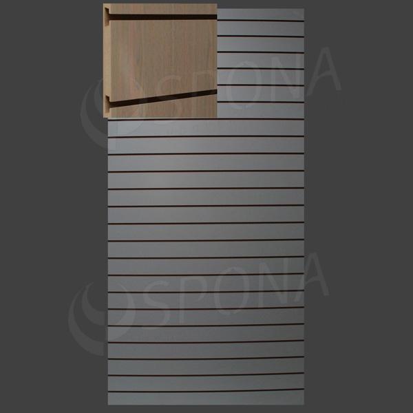SLAT ART drážkový panel 120 x 240 cm, 10, bez insertov, dub (rovere)