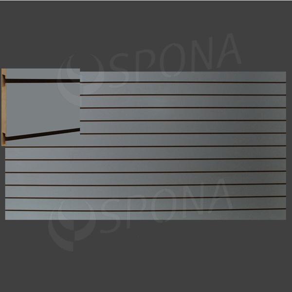 SLAT ART panel 240 x 120 cm, 11 drážok v rozostupe 10 cm, bez insertov, šedý (grigio)
