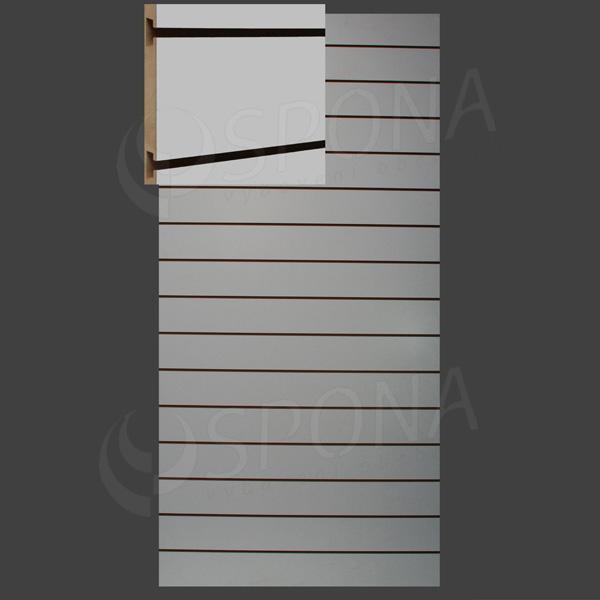 SLAT ART panel 120 x 240 cm, 15 drážok v rozostupe 15 cm, bez insertov, biely (bianco)
