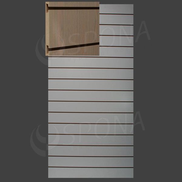 SLAT ART panel 120 x 240 cm, 15 drážok v rozostupe 15 cm, bez insertov, dub (rovere)