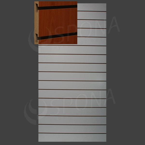 SLAT ART panel 120 x 240 cm, 15 drážok v rozostupe 15 cm, bez insertov, orech (noce)