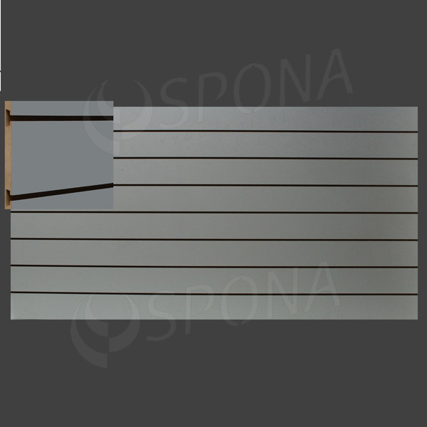 SLAT ART panel 240 x 120 cm, 7 drážok v rozostupe 15 cm, bez insertov, šedý (grigio)