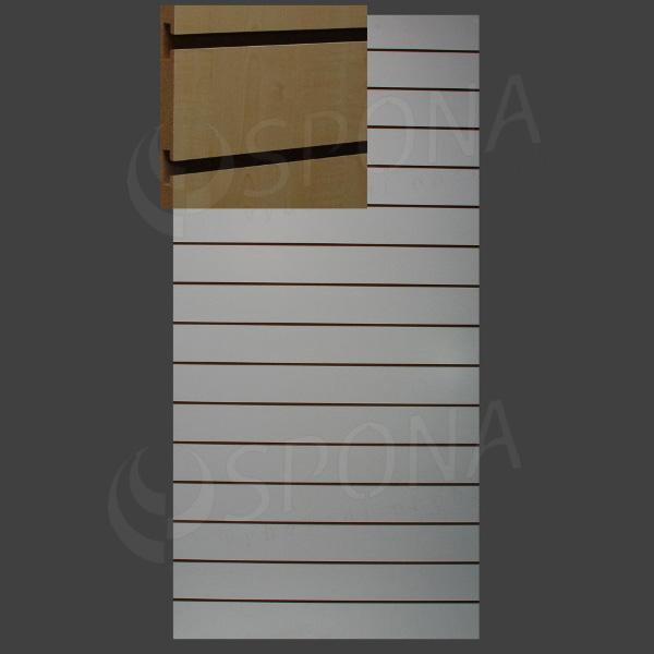 SLAT ART panel 120 x 240 cm, 11 drážok v rozostupe 20 cm, bez insertov, javor (acero)