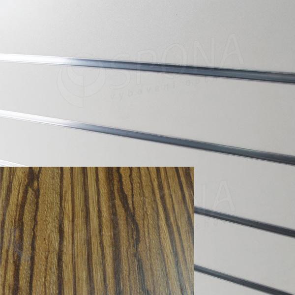 SLAT ARK panel 120 x 240 cm, 20, bez insertov, zebrano