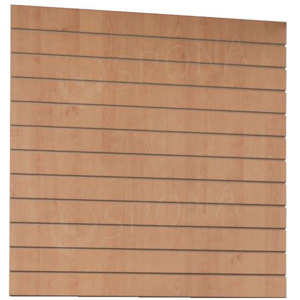 SLAT DREAM panel 120,5 x 122 cm, 11 drážok v rozostupe 10 cm, bez insertov, javor (maple)