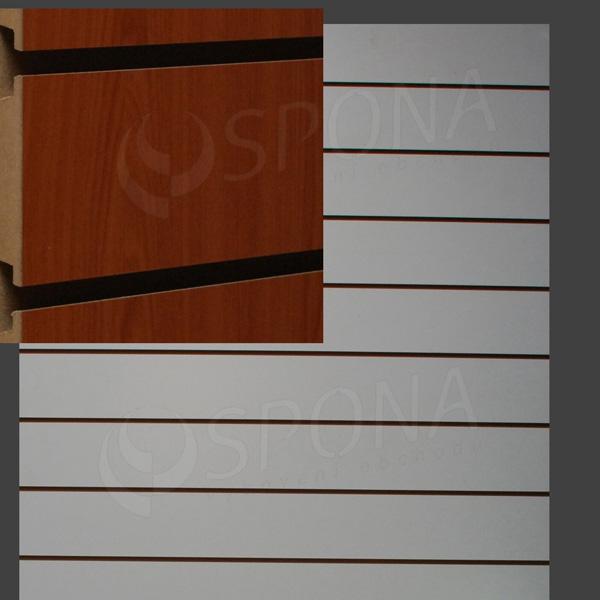 SLAT DREAM panel 120,5 x 122 cm, 11 drážok v rozostupe 10 cm, bez insertov, čerešňa (cherry)
