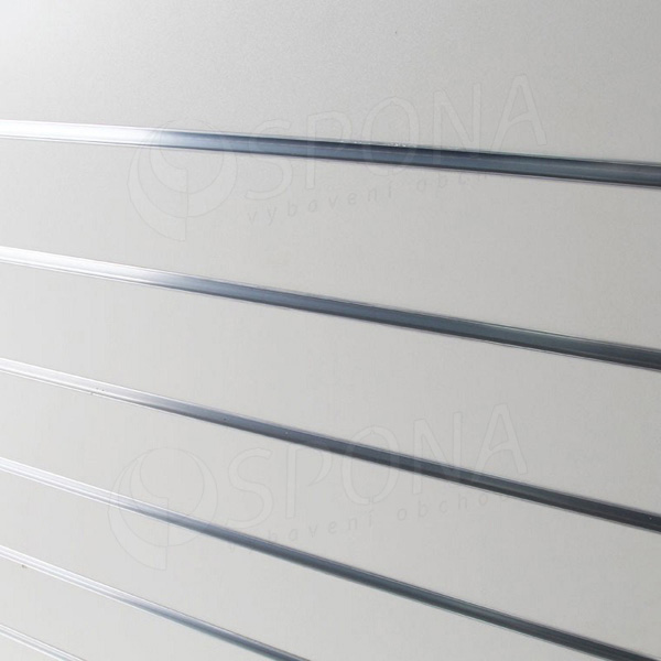SLAT DREAM panel 120,5 x 122 cm, 7 drážok v rozostupe 15 cm, bez insertov, biely (white)