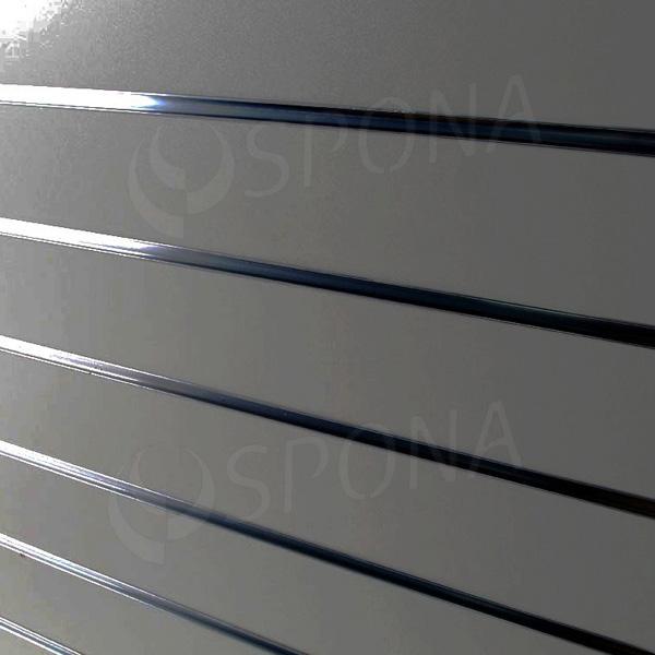 SLAT DREAM panel 120,5 x 122 cm, 7 drážok v rozostupe 15 cm, bez insertov, strieborný (silver)